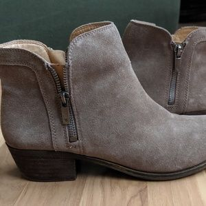 Lucky Brand Breah Booties Brindle, Size 9